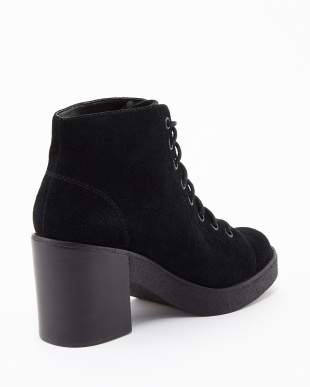 BLACK AWESOME LACE UP SDE ブーツ見る