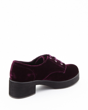 PURPLE FAZE LACE UP VELVET シューズ見る