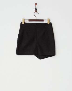 BLACK TINSEL WRAP MINI スカート見る