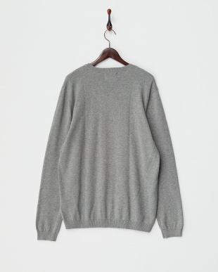 LIGHT GREY  クルーネックセーター見る