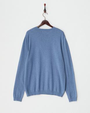 MID BLUE  クルーネックセーター見る