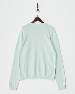 LIGHT BLUE  クルーネックセーター見る
