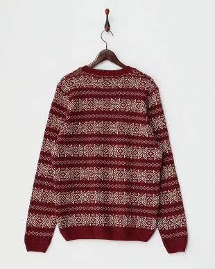 BURGUNDY 雪柄 セーター見る