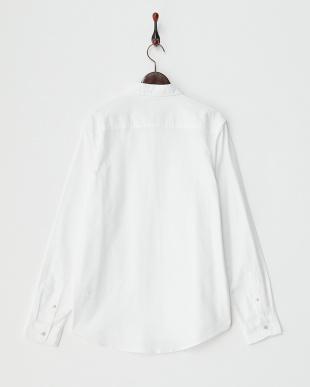 WHITE  丸襟 ボタンダウンシャツ見る