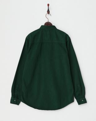 GREEN ツイル調 ボタンダウンシャツ見る