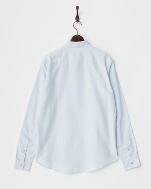 LIGHT BLUE  丸襟 ボタンダウンシャツ見る