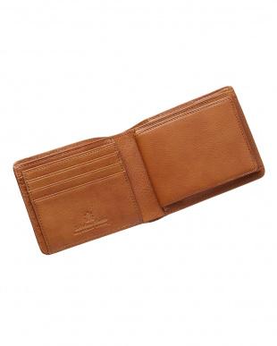 キャメル  カラーメッシュ二つ折り財布見る