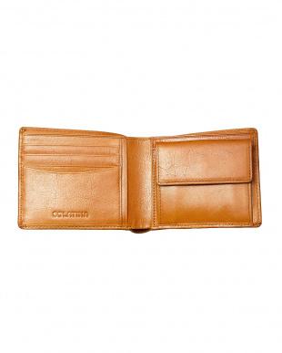 イエロー  バンダナ柄二つ折り財布見る