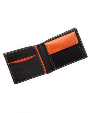 ブラック  ブッテーロ イタリアンカウレザー二つ折り財布見る