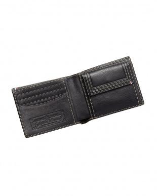 ブラック  ミネルバボックス二つ折り財布見る