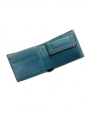 ブルー  ミネルバボックス二つ折り財布見る