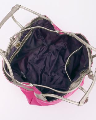 ピンク  巾着トートバッグ見る