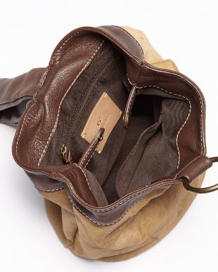 ブラウン×ベージュ 円筒型ハラコ1本手バッグ見る