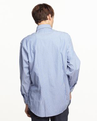 ブルーストライプ ボタンダウンワイシャツ見る