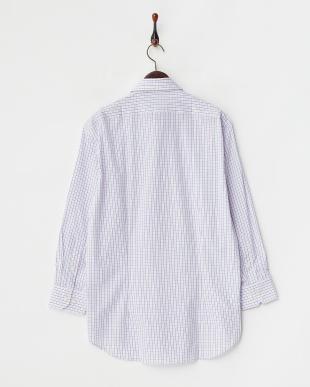 ピンクチェック ボタンダウンワイシャツ見る