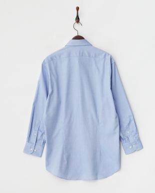ブルー無地 ボタンダウンワイシャツ見る
