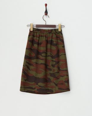 KHAKI 裏シャギー起毛迷彩スカート見る