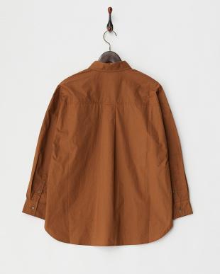 ブラウン  コットンビッグシャツ見る