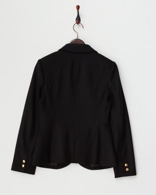 ブラック  金釦ウールジャケット見る