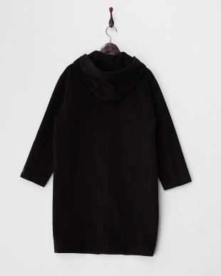 ブラック  フード付きコート見る
