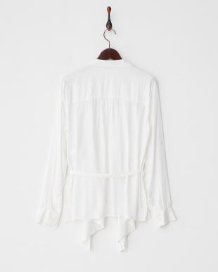 ホワイト  5WAYシャツ見る