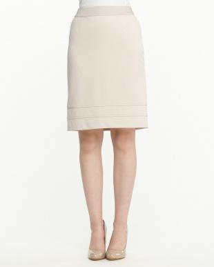 ベージュ  カノコ スカート見る