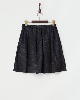 ネイビー  メモリードットJQ スカート見る