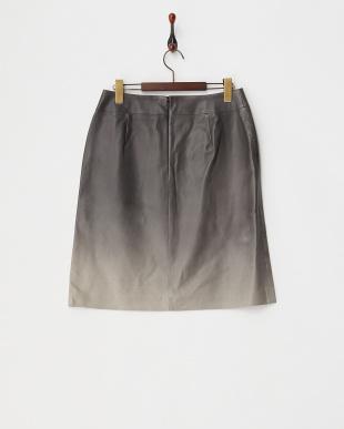 グレー ラムレザー スカート見る