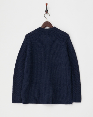 NAVY  BABY ALPACA 5G CHANGE SLEEVE KNIT見る