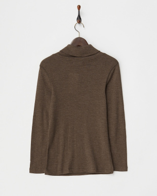 BROWN  WOOL TURTLE NECK CUT&SEWN見る