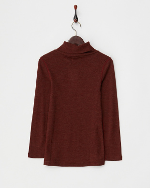 BURGUNDY  WOOL TURTLE NECK CUT&SEWN見る