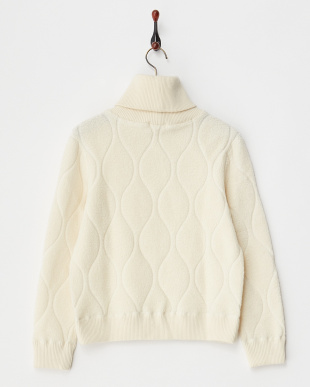 WHITE  WOOL JQ PILE HIGH NECK見る