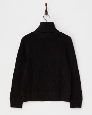 BLACK  WOOL JQ PILE HIGH NECK見る