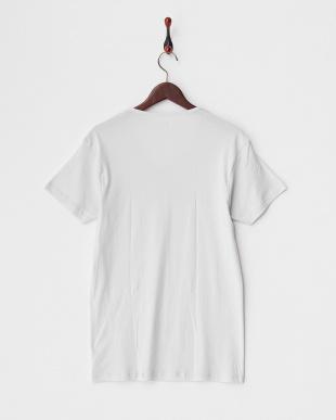 ライトグレー  PURE COTTON VネックTシャツ見る