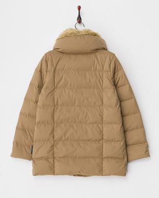 キャメル  Eco Fake Fur Medium Length Coat見る