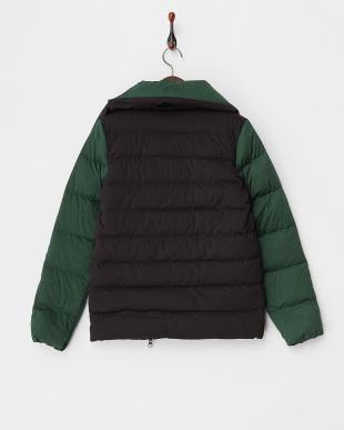 ブラック×グリーン Big Collar Jacket見る