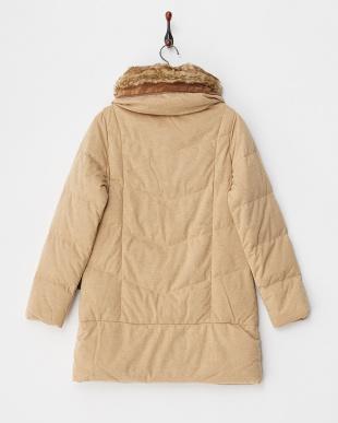 ヘザーベージュ Stand Fake Fur Coat見る