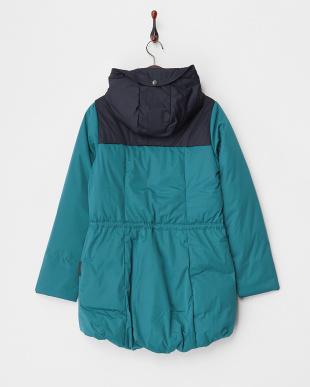 ブルーグリーン  Long Design Coat見る