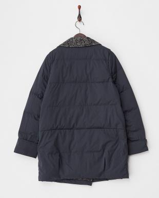 ネイビー  Tweed Lapel Coat見る