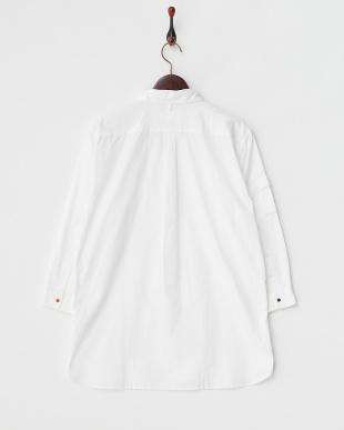 ホワイト OX SnapBD7分袖シャツ見る