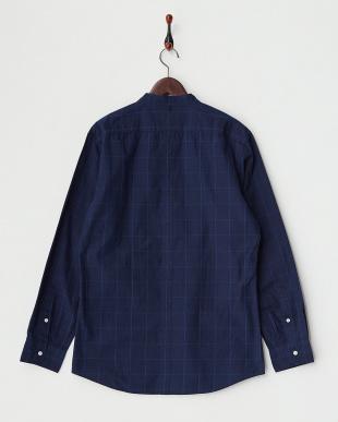 BLUE×NAVY  B:CHECKバンドカラーシャツ見る
