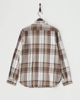 BROWN  B:ヘビーネルチェックシャツ見る
