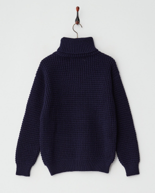 NAVY  ODLd:ROLL NECK ニット見る