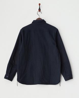 NAVY  B:ライトメルトン CPOシャツジャケット見る