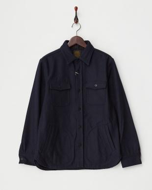 NAVY  B:メルトン CPOシャツジャケット見る