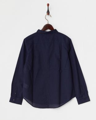 NAVY  B:ボーダーメッシュシャツ見る