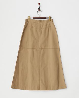 BEIGE  B:チノロングスカート見る