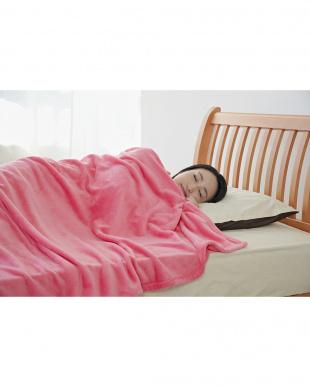 ピンク  マイクロファイバー毛布 シングル見る