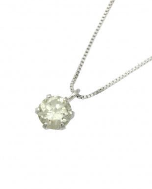 Pt 天然ダイヤモンド0.3ct 一粒ネックレス&スタッドピアス 2点セット見る