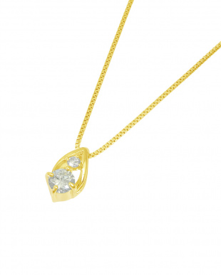 K18YG  天然ダイヤモンド 計0.08ct ドロップ ネックレス見る